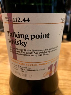 The Dramble reviews SMWS 112.44 Talking point whisky