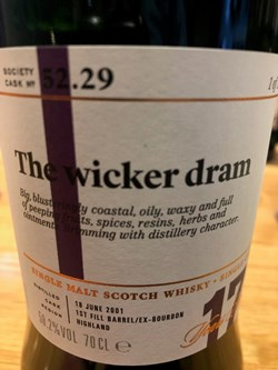 The Dramble reviews SMWS 52.29 The wicker dram