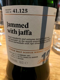The Dramble reviews SMWS 41.125 Jammed with jaffa