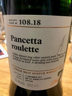The Dramble reviews SMWS 108.18 Pancetta roulette