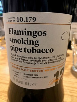 The Dramble reviews SMWS 10.179 Flamingos smoking pipe tobacco