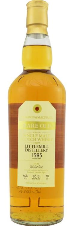 The Dramble's tasting notes for Littlemill 1985 28 year old Gordon & MacPhail's Rare Old