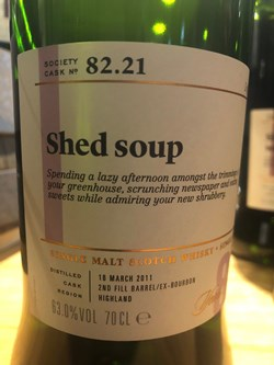 The Dramble reviews SMWS 82.21 Shed soup