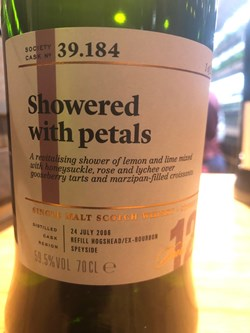 The Dramble reviews SMWS 39.184 Showered with petals
