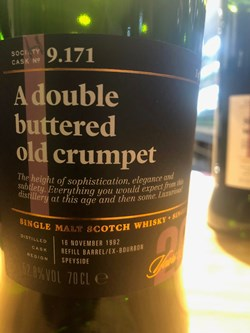 The Dramble reviews SMWS 9.171 A double buttered old crumpet