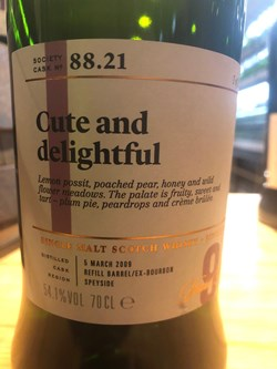 The Dramble reviews SMWS 88.21 Cute and delightful