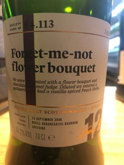 The Dramble reviews SMWS 64.113 Forget-me-not flower bouquet