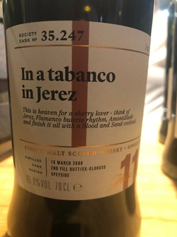 The Dramble reviews SMWS 35.247 In a tabanco in Jerez