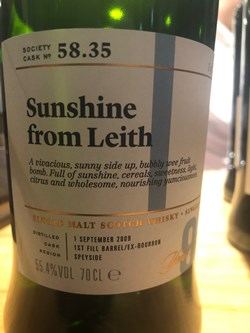 The Dramble reviews SMWS 58.35 Sunshine from Leith