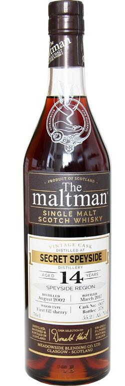 The Dramble's tasting notes for Maltman Secret Speyside 14 year old