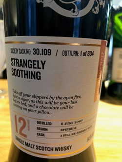 The Dramble reviews SMWS 30.109 Strangely soothing