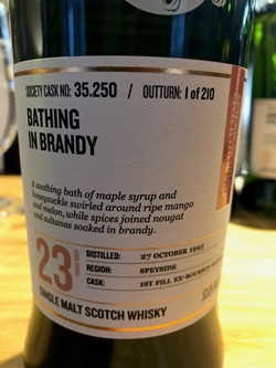 The Dramble reviews SMWS 35.250 Bathing in brandy