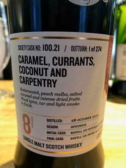 The Dramble reviews SMWS 100.21 Caramel, currants, coconut and carpentry