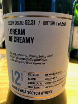 The Dramble reviews SMWS 52.31 I dream of creamy