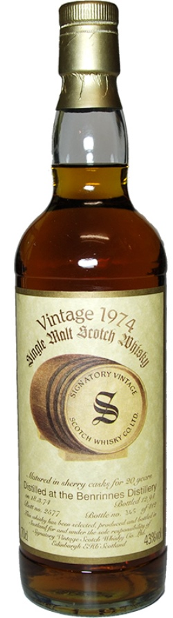 The Dramble reviews Signatory Vintage Benrinnes 1974 21 year old Cask 2579