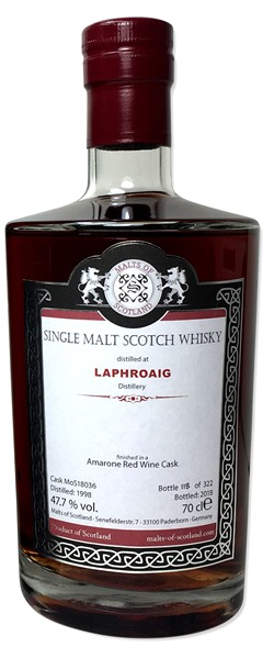 The Dramble reviews Malts of Scotland Laphroaig 1998 20 year old Amarone Wine Cask Finish