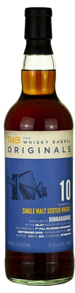 The Dramble reviews TWB Originals Bunnahabhain 2009 10 year old 1st fill oloroso hogshead