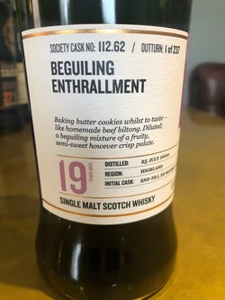 The Dramble reviews SMWS 112.62 Beguiling Enthrallment