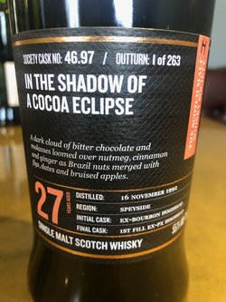 The Dramble review SMWS 46.97 In the shadow of a cocoa eclipse