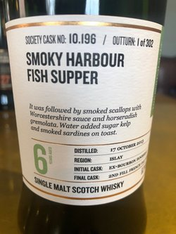 The Dramble reviews SMWS 10.196 Smoky harbour fish supper