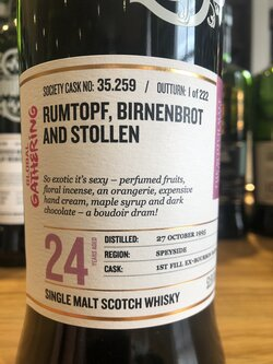 The Dramble reviews SMWS 35.259 Rumtopf, birnenbrot and stollen