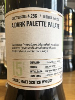 The Dramble reviews SMWS 4.256 A dark palette palate