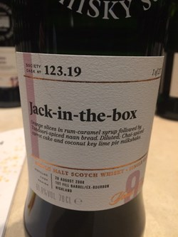 The Dramble's tasting notes for SMWS 123.19 Jack-in-the-box