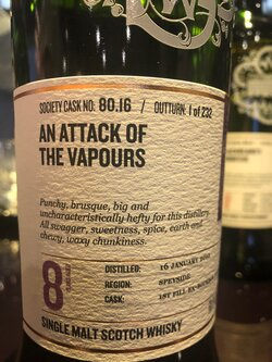 The Dramble reviews SMWS 80.16 An attack of the vapours