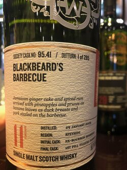 The Dramble reviews SMWS 95.41 Blackbeard's barbeque