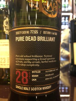 The Dramble reviews SMWS 77.65 Pure dead brilliant