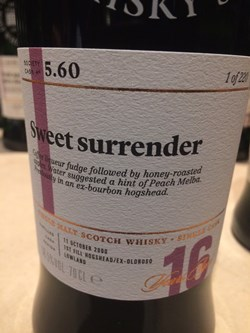The Dramble's tasting notes for SMWS 5.60 Sweet surrender