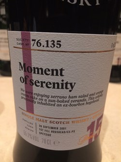 The Dramble's tasting notes for SMWS 76.135 Moment of serenity