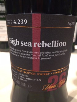 The Dramble's tasting notes for SMWS 4.239 High sea rebellion