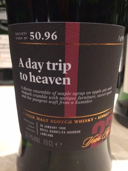 The Dramble's tasting notes for SMWS 50.96 A day trip to heaven