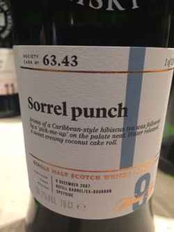 The Dramble's tasting notes for SMWS 63.43 Sorrel punch