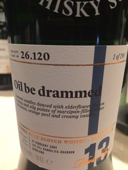 The Dramble's tasting notes for SMWS 26.120 Oil be drammed