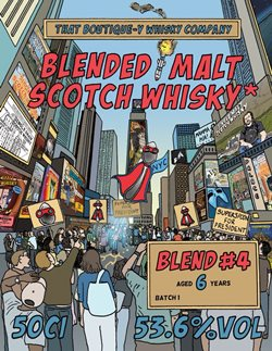 The Dramble's tasting notes for That Boutique-y Whisky Company Blended Malt No.4 6 year old Batch 1