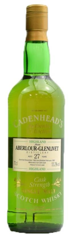 The Dramble's tasting notes for Cadenhead's 1963 Aberlour 27 year old.