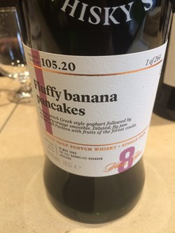 The Dramble's tasting notes for SMWS 105.20 Fluffy banana pancakes
