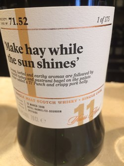 The Dramble's tasting notes for SMWS 71.52 Make hay while the sun shines