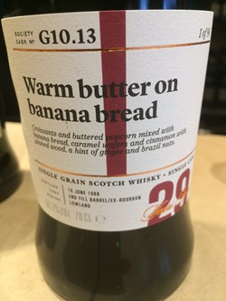 The Dramble's tasting notes for SMWS G10.13 Warm butter on banana bread