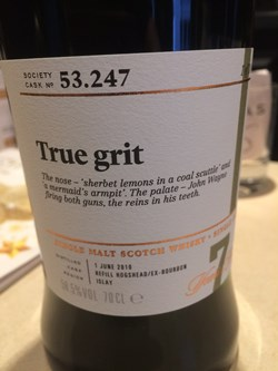The Dramble's tasting notes for SMWS 53.247 True grit