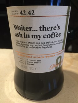 The Dramble's tasting notes for SMWS 42.42 Waiter…there's ash in my coffee