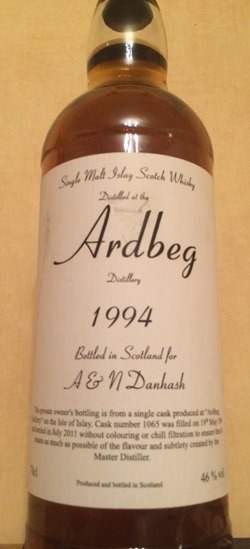 The Dramble's tasting notes for Ardbeg 1994 17 year old Private Cask