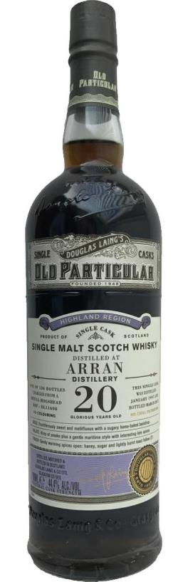 The Dramble's tasting notes for Arran 1997 20 year old Douglas Laing Old Particular