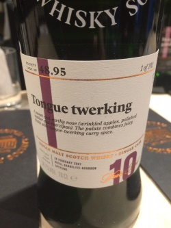 The Dramble's tasting notes for SMWS 48.95 Tongue Twerking