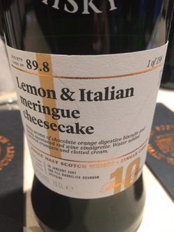 The Dramble's tasting notes for SMWS 89.9 Lemon and Italian meringue cheesecake