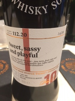 The Dramble's tasting notes for SMWS 112.20 Sweet, sassy and playful