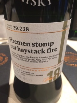 The Dramble's tasting notes for SMWS 29.238 Firemen stomp out haystack fire