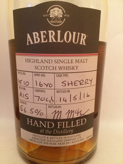 The Dramble's tasting notes for Aberlour 2000 16 year old hand filled at the distillery